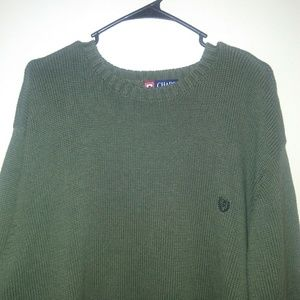 Chaps mens sweater size 2XB green